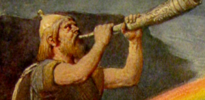 Heimdallr guarding the bridige